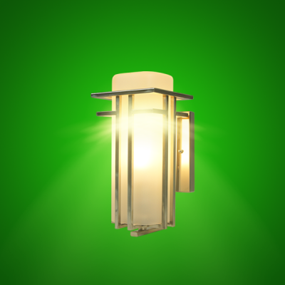 LED Art Deco Sconce Light