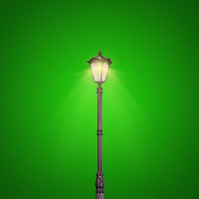 LED Wave Pole Lamp