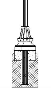 Direct Burial Decorative Pole