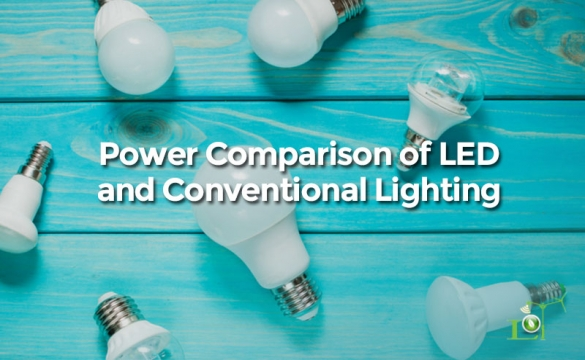 Power Comparison of LED and Conventional Lighting