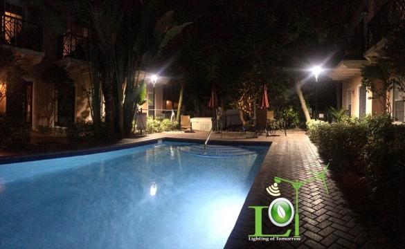 Project Spotlight: LED Pool Area Lighting